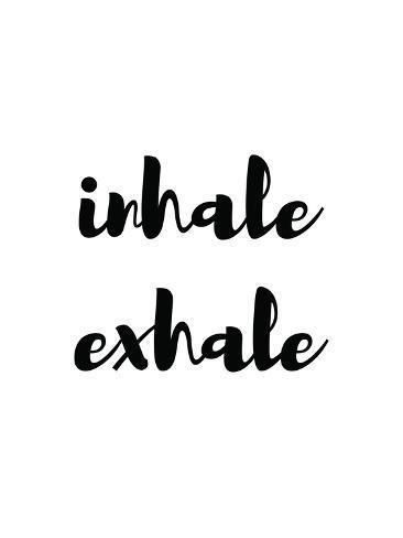 Inhale Exhale Stampa artistica