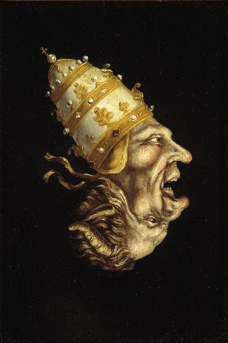 Pope-Devil Lámina giclée