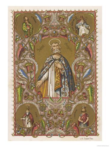 Pope Gregorius I, Saint Gregory the Great Lámina giclée