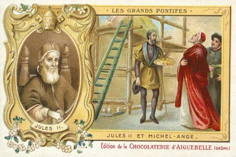 the working relationship between pope julius ii and michelangelo