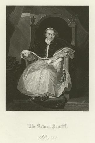 Pope Pius VII Lámina giclée
