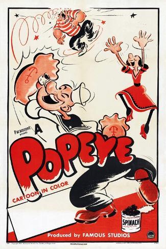 Popeye (Left) Art Print