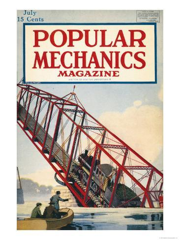 Popular Mechanics, July 1918 Art Print