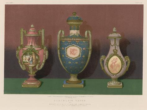 Porcelain Vases By Messrs Rose And Co Coalport Shropshire Giclee