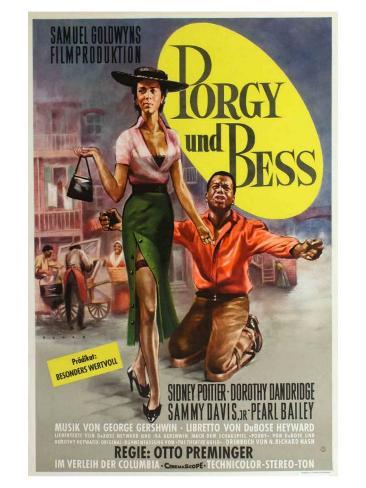 Porgy and Bess, German Movie Poster, 1959 Art Print