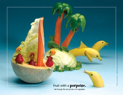 Porpoise Foodscapes™ Laminated Poster