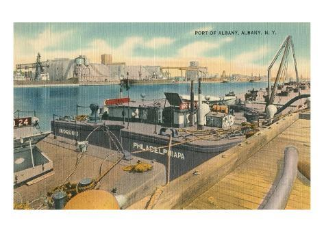 Port of Albany, New York State Stretched Canvas Print