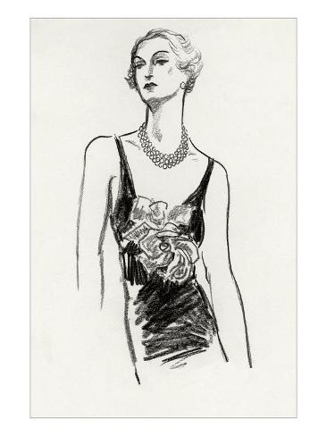 Vogue - December 1934 Stampa giclée premium