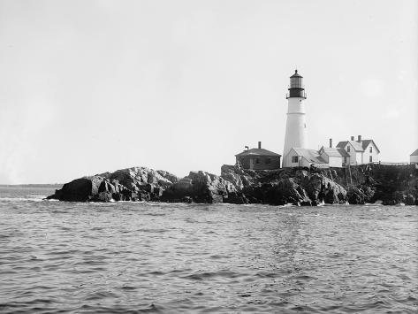 Portland Head Light, Portland, Maine, C.1900-10 Photographic Print