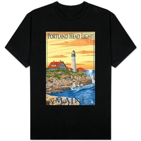 Portland head light portland maine t shirt for T shirt printing in portland oregon