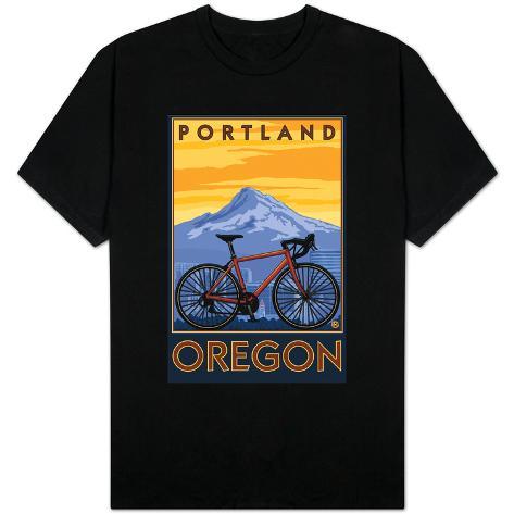 Portland oregon mountain bike scene shirts for T shirt printing in portland oregon