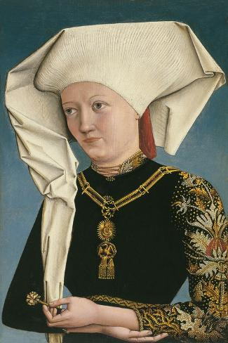 Portrait of a Lady Wearing the Order of the Swan Stampa giclée
