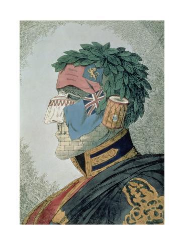 Portrait of a Noble Duke, Cartoon of Arthur Wellesley, Duke of Wellington (1769-1852) Pub. 1829 Giclee Print
