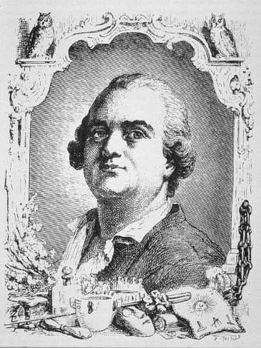 Portrait of Cagliostro Lámina giclée