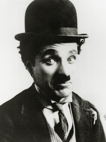 Portrait of Charlie Chaplin Stampa fotografica