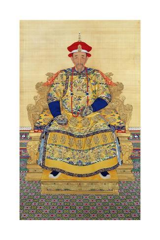 Portrait of Emperor Kangxi Stampa giclée