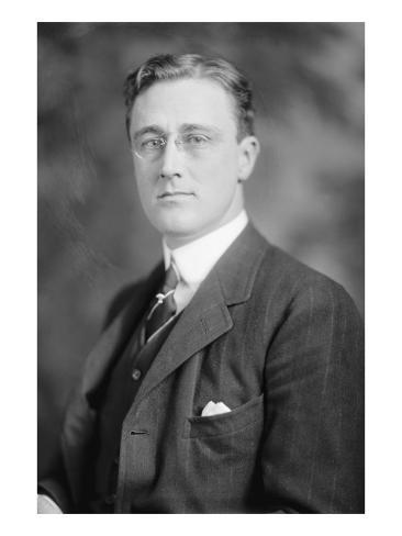 Portrait of Franklin Delano Roosevelt Art Print