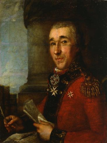 Portrait of General Count Alexey Arakcheyev, Late 18th Century Giclee Print