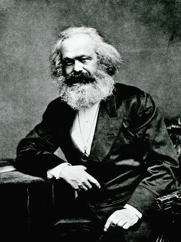 Portrait of Karl Marx Lámina fotográfica