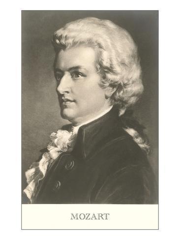Portrait of Mozart Art Print