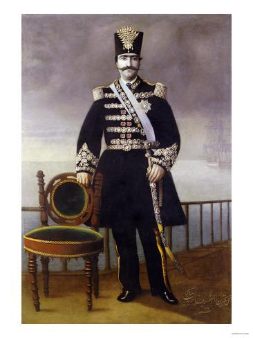 Portrait of Nasir Al-Din Shah Qajar Giclee Print