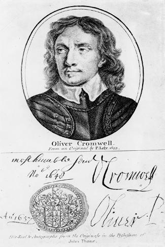Portrait of Oliver Cromwell Stampa giclée