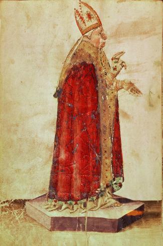 Portrait of Pope Boniface VIII Lámina giclée