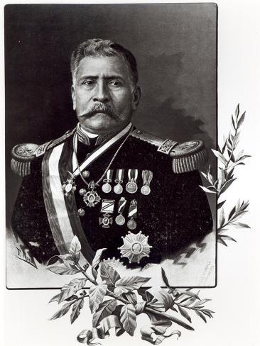 Portrait of Porfirio Diaz Lámina giclée