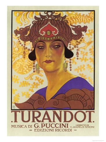 Portrait of Princess Turandot Giclee Print