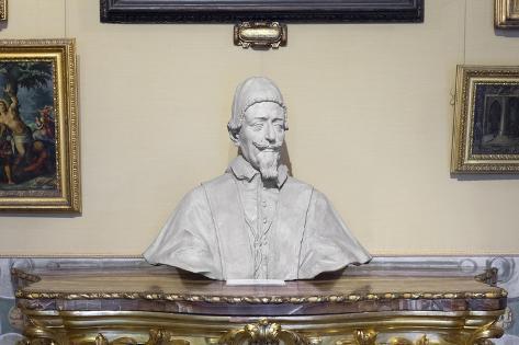 Portrait on Pope Alessandro Vii Chigi Lámina giclée