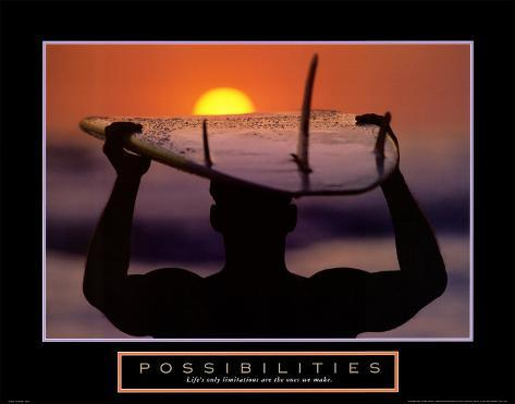 Possibilities: Surfer Art Print