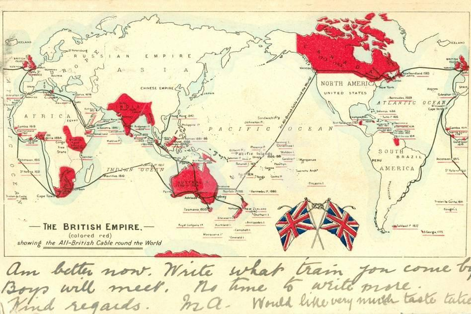 British colonial map the british empire poster by post card privacy preference centre gumiabroncs Choice Image