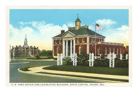 Post Office, Dover, Delaware Art Print