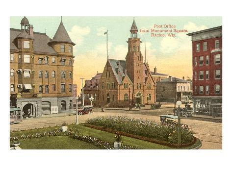 Post Office, Monument Square, Racine, Wisconsin Art Print