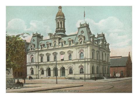 Post Office, Scranton, Philadelphia, Pennsylvania Art Print