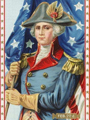 Postcard Commemorating Washington's Birthday Stretched Canvas Print
