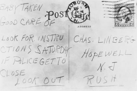 Postcard Evidence in Lindbergh Trial Valokuvavedos