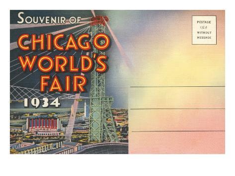 Postcard Folder, Souvenir of Chicago World's Fair Art Print