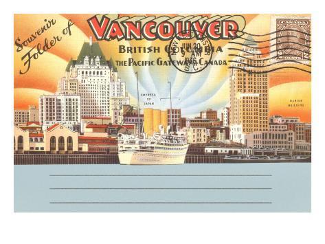 Postcard Folder, Vancouver, British Columbia Art Print