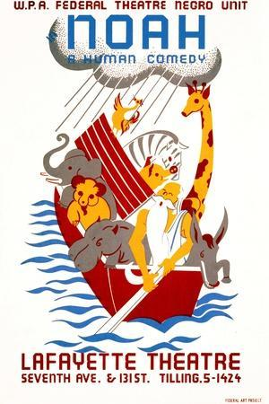 Poster Advertising the Production Noah at the Lafayette ...