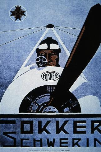 Poster for Fokker Aircraft Stampa giclée