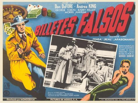 Poster for Mexican Film Noir Movie Art Print