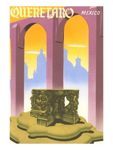 Poster for Queretaro, Mexico Art Print