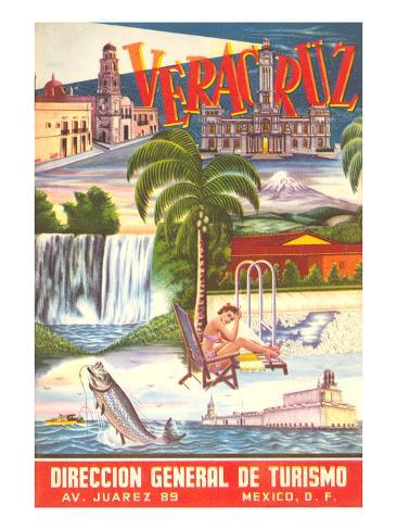 Poster for Veracruz, Mexico Art Print