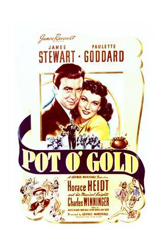 Pot o' Gold - Movie Poster Reproduction Art Print