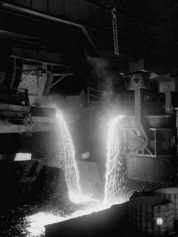 Pouring of Molten Steel Photographic Print