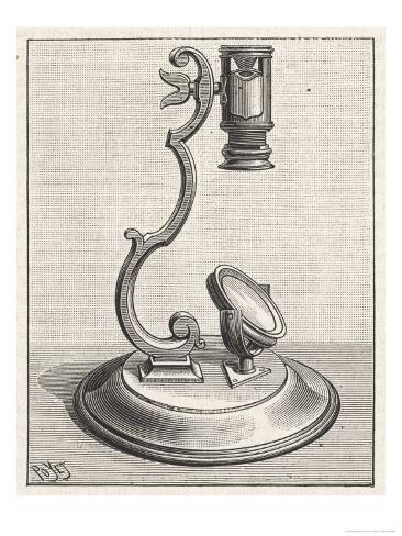 Baker's Mounted Lens Microscope Lámina giclée