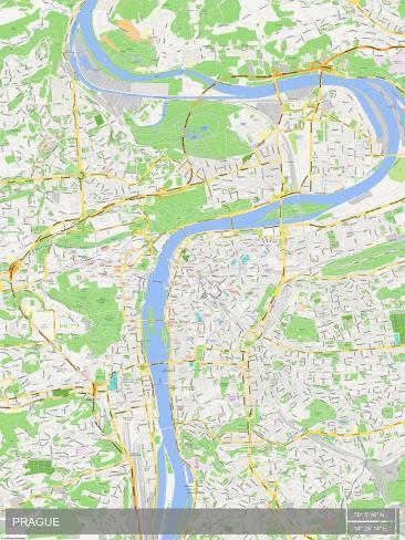 Prague, Czech Republic Map Poster - AllPosters.ca