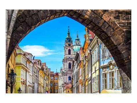Prague Old Town & Tower Arch Art Print