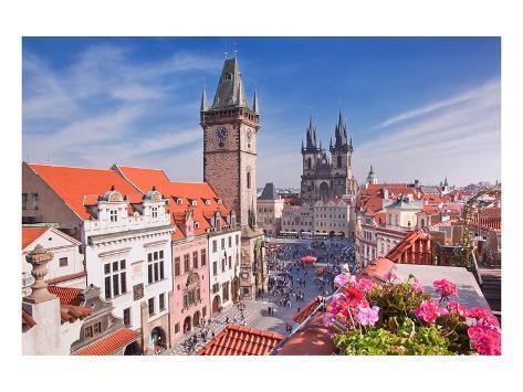 Prague Tyn Cathedral & Tower Art Print